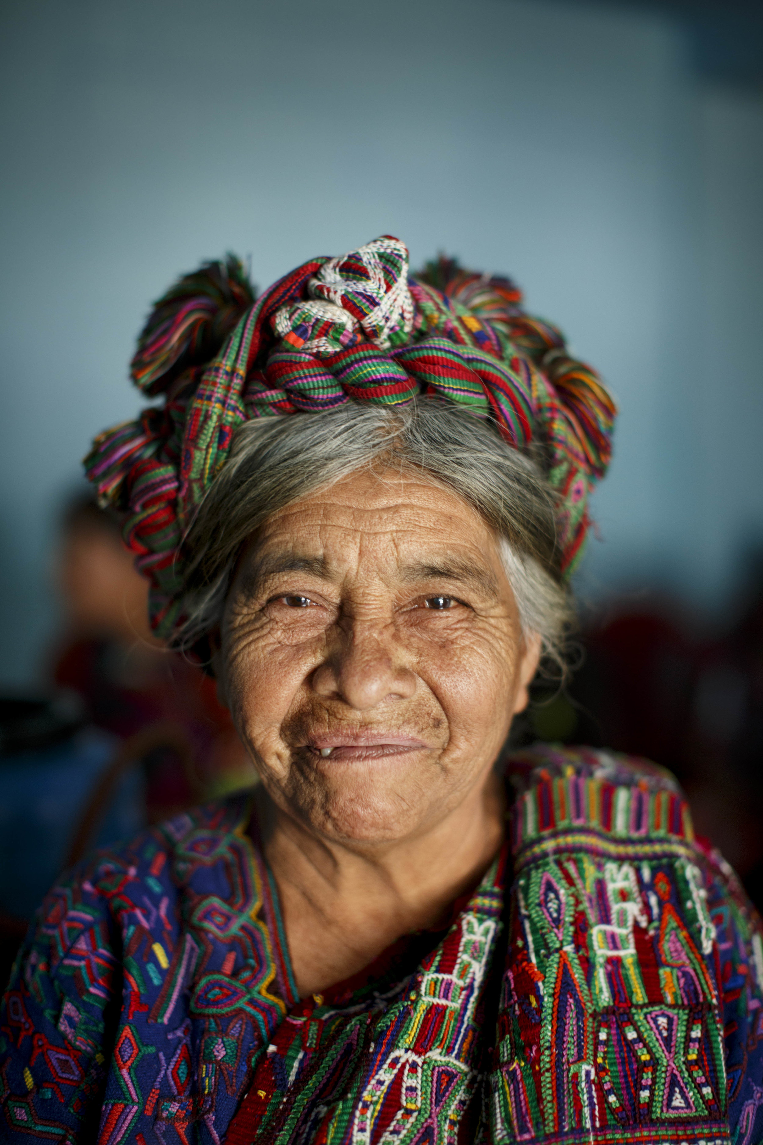 Photo: Doña Juana, an indigenous Ixil midwife of Pulay, Quiché, Guatemala.
