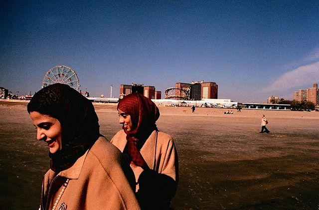 found some photos shot on grained up expired film from my first trip to coney island, four years ago ☀️🌊🏖