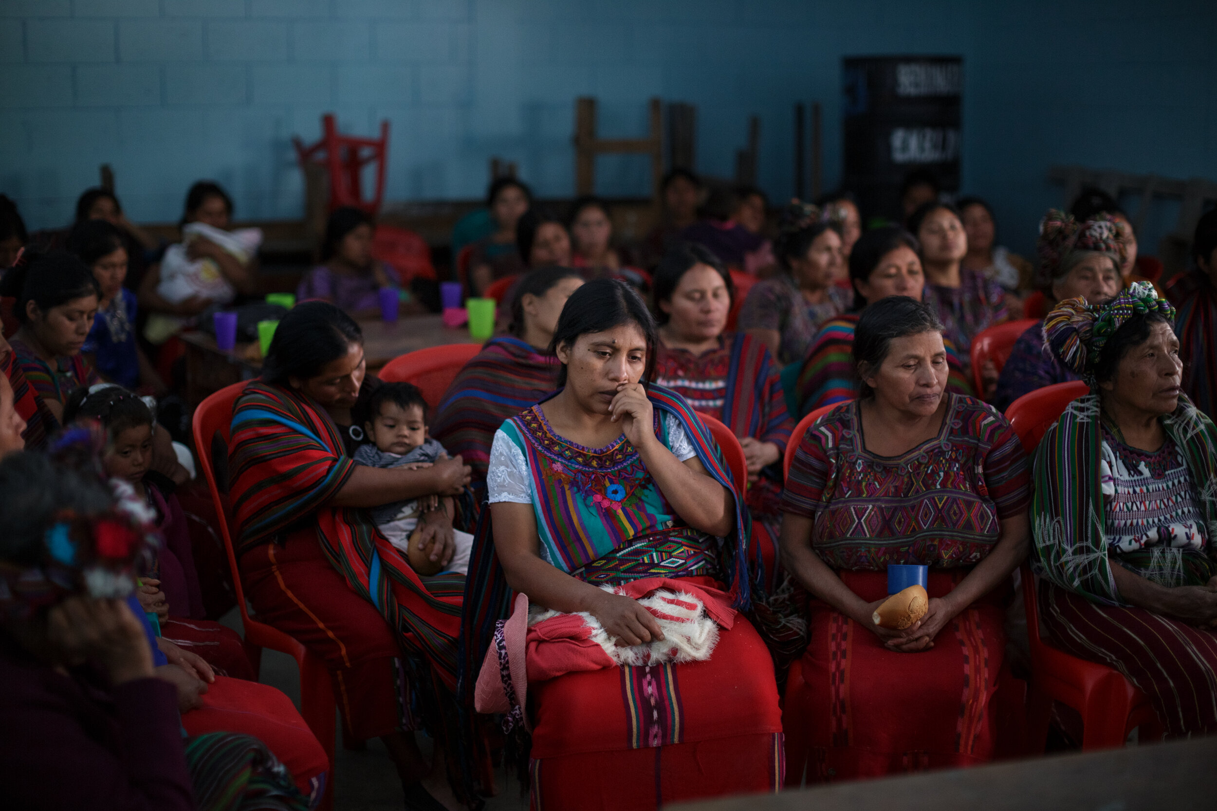 Domestic violence and family planning charla. Nebaj, Guatemala, 2018 for World Health Organization.
