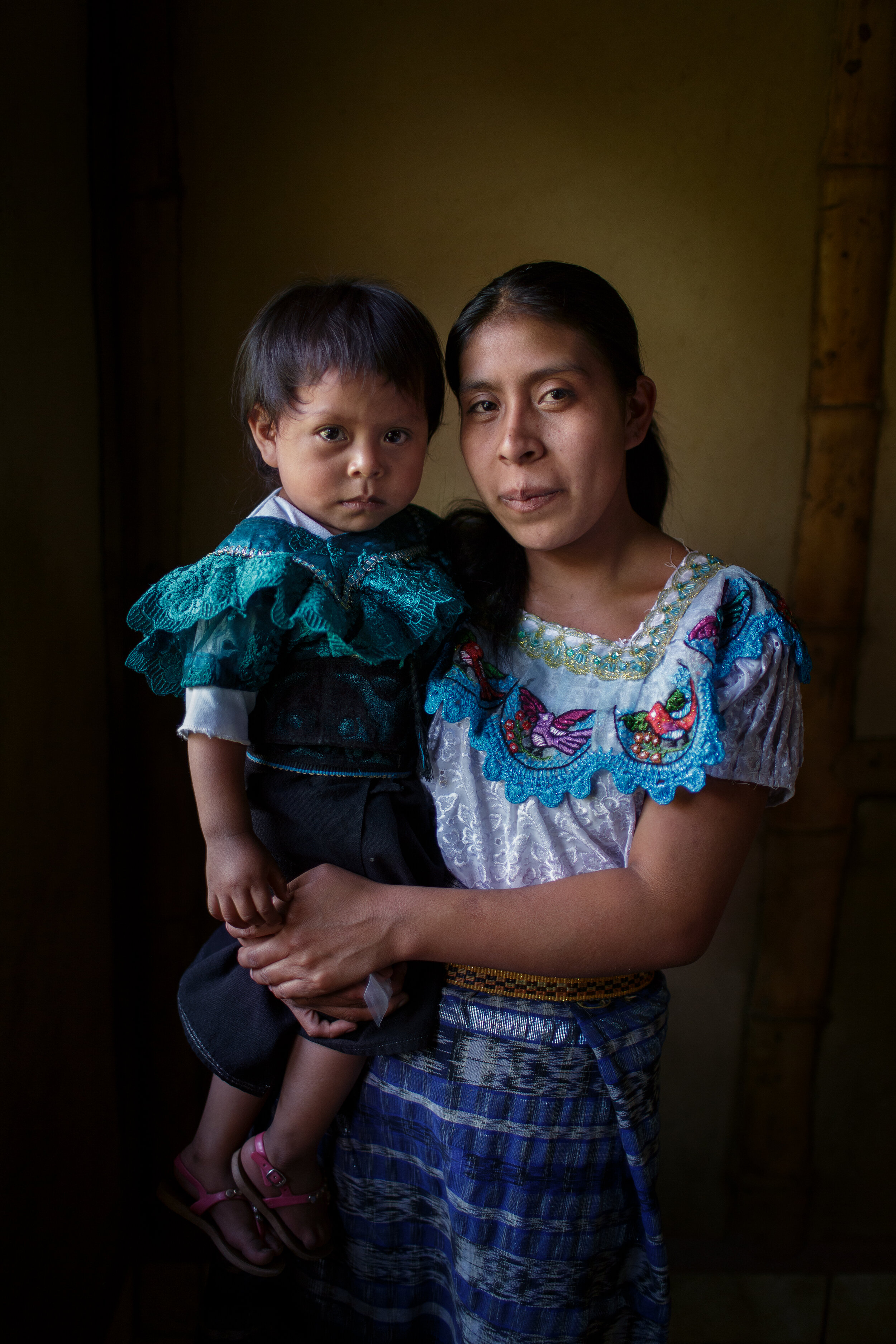 Well mother, well child clinic for mothers with undernourished children in Sololá, Guatemala. 2017 for ODIM.