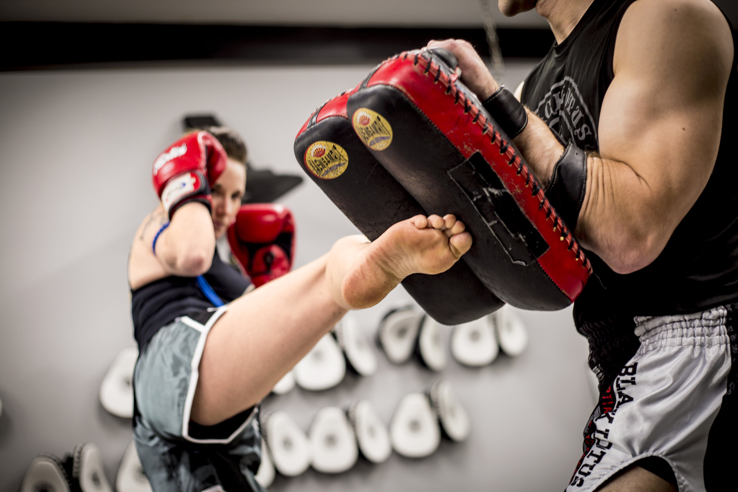 Private lessons - Private lessons are available for all of our programs and more! Kickboxing, Muay Thai, Jiu Jitsu, Self Defense, Karate, SanShou, Judo, Boxing, and general Fitness/Weight Loss; for adults, children or small groups. Contact us for rates. Be sure to ask about our package deals for extra savings!