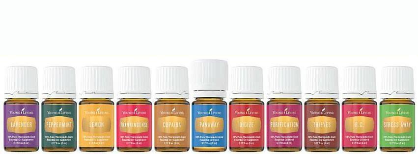 A variety  - 11 amazing oils to get you started: Purification, Thieves, DiGize, Frankincense, R.C., Copaiba, Lemon, Stress Away, Peppermint, PanAway, and Lavender.  Click here to learn more about all 11 oils .