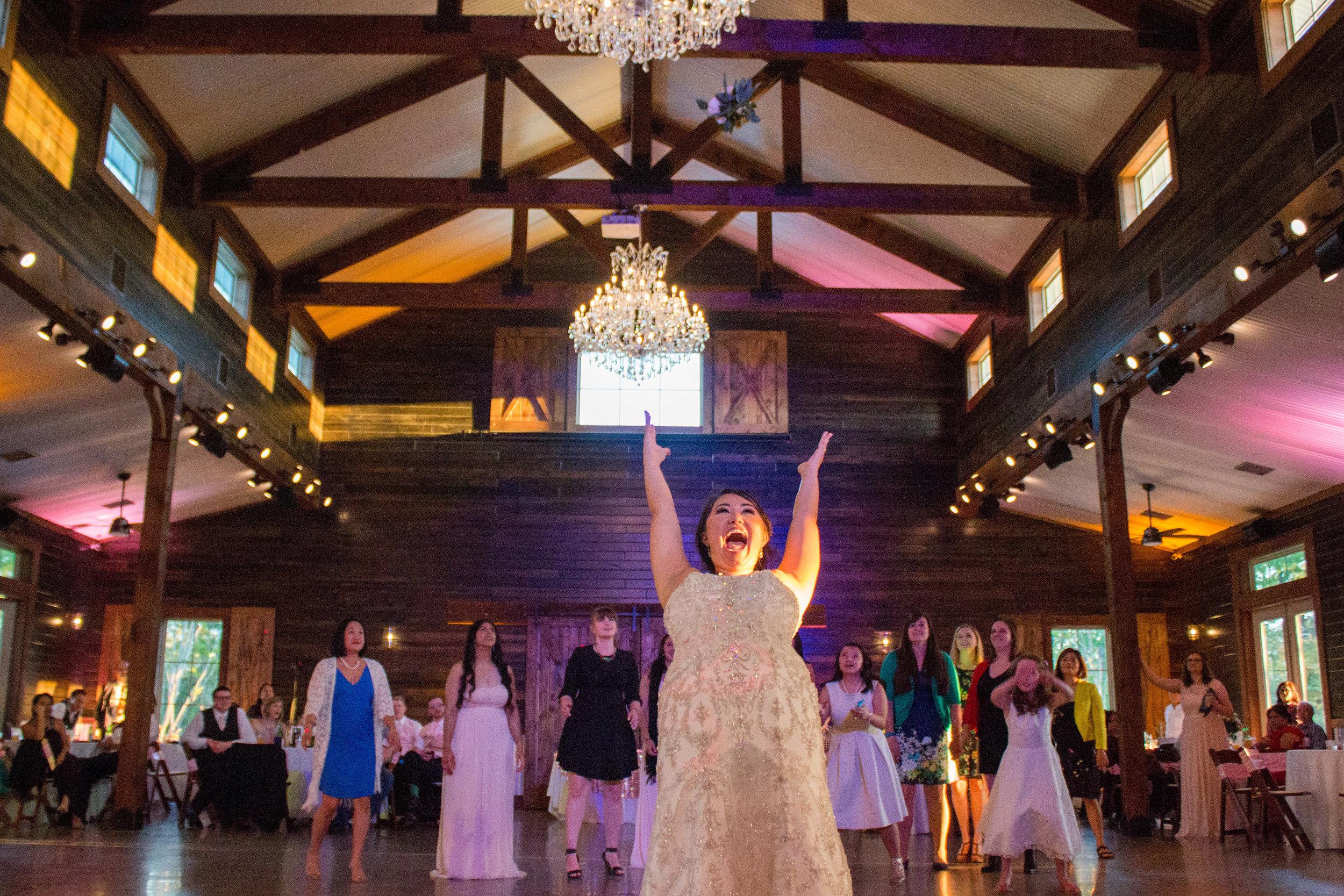 flower toss bouquet wedding bride