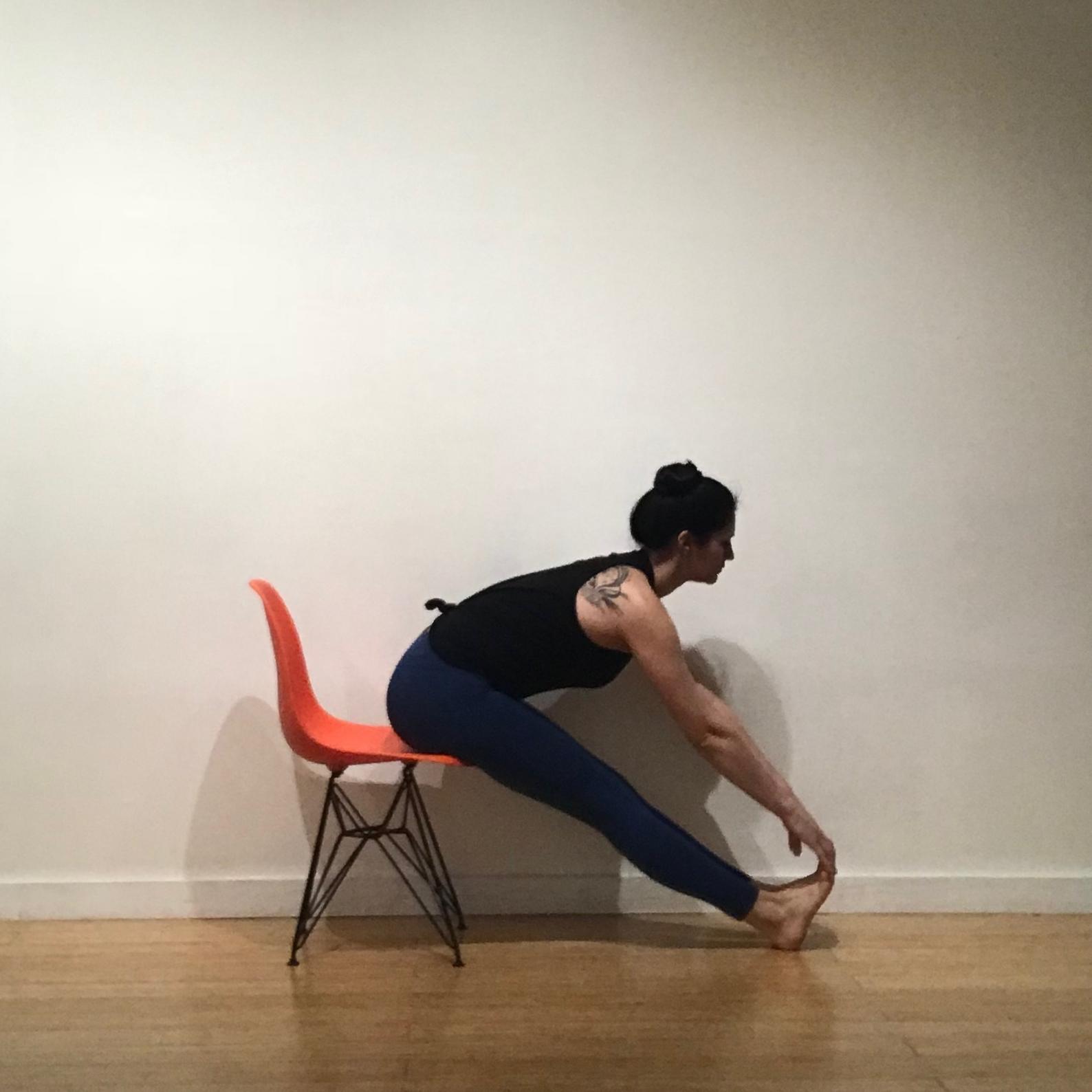 Seated forward fold