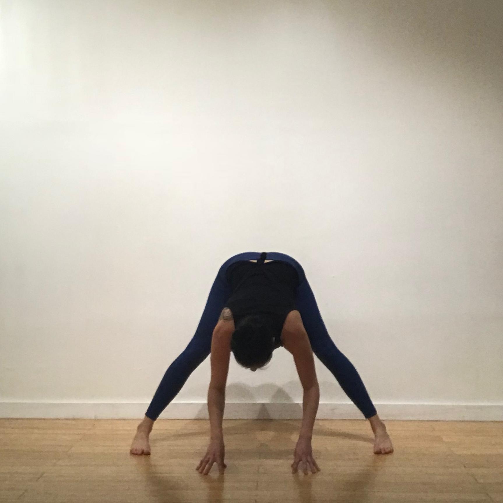 Wide-leg forward fold