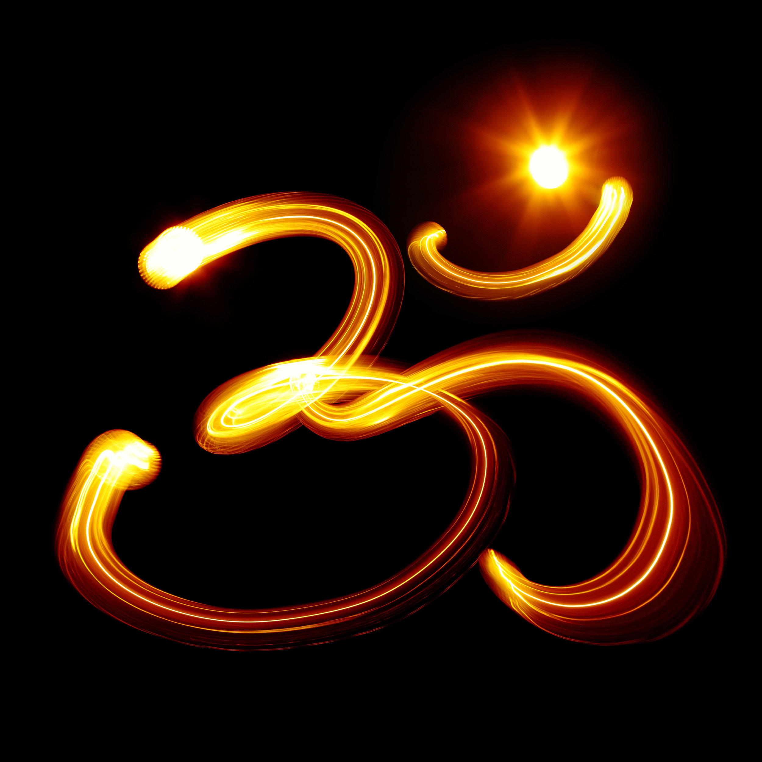 AUM or  Om  ( Sanskrit : ॐ) is a sacred sound or vibration from which all the manifest universe emanates.