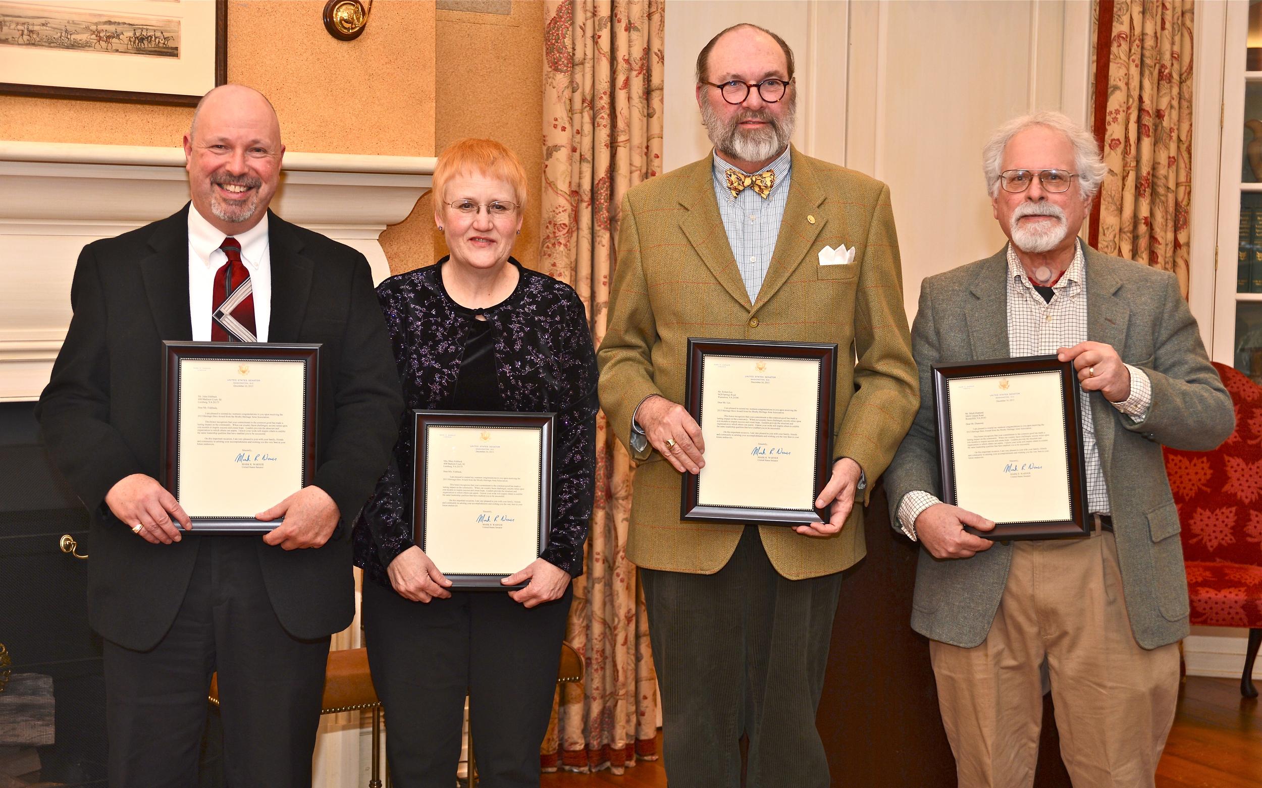 From left: Bob Fishback, Mary Fishback, Bob Lee, Mitch Diamond