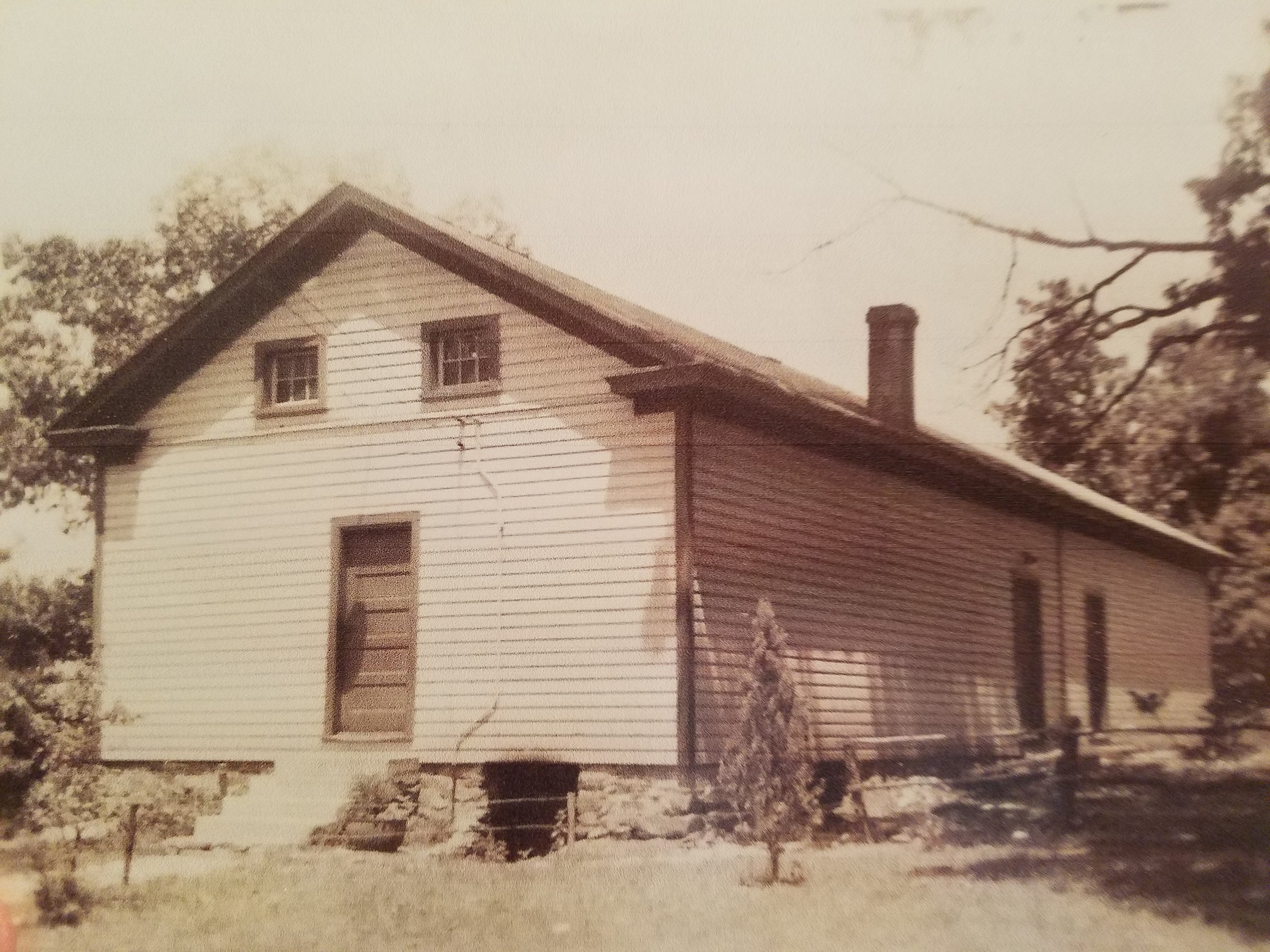 The historic Willisville schoolhouse