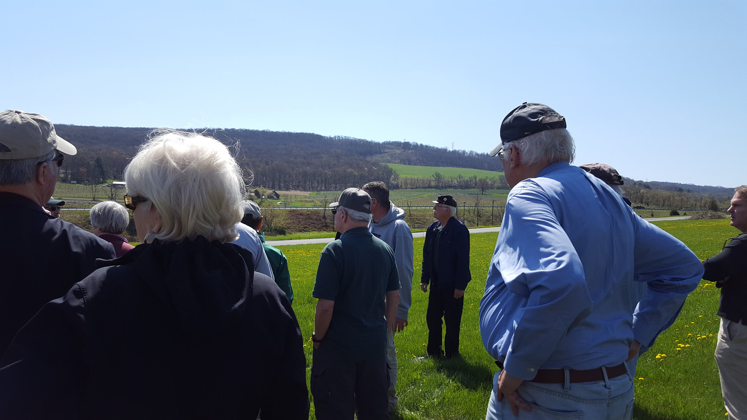 Historian Eric WIttenberg leads the Retreat From Gettysburg tour