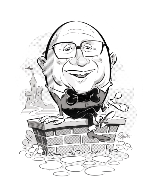 'Humpty Dumpty' private commission / Illustration by and © Copyright Anton Emdin 2015. All Rights Reserved. Please do not reproduce without express written permission.