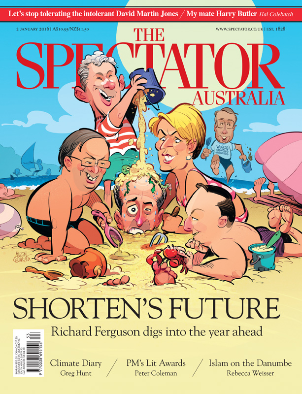 Illustration for The Spectator Australia on Bill Shorten's future