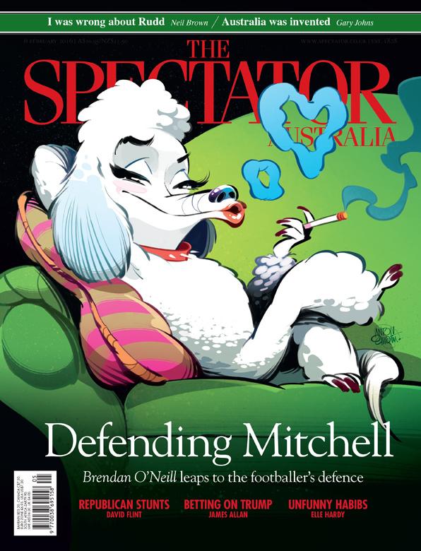Poodle illustration for The Spectator Australia.  Illustration © Anton Emdin 2016.  All rights reserved.