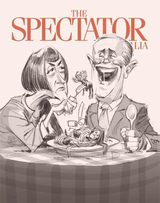 Cover art for The Spectator -- Illustration © Anton Emdin 2016.  All rights reserved.