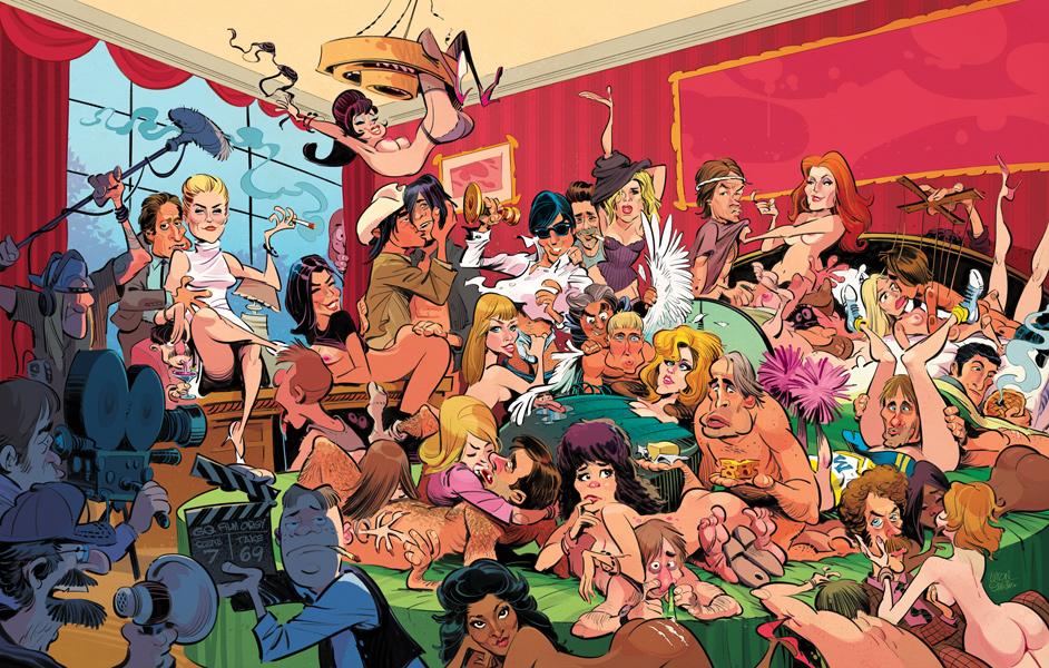 GQ Hollywood Orgy /Illustration © Anton Emdin 2016. All rights reserved.