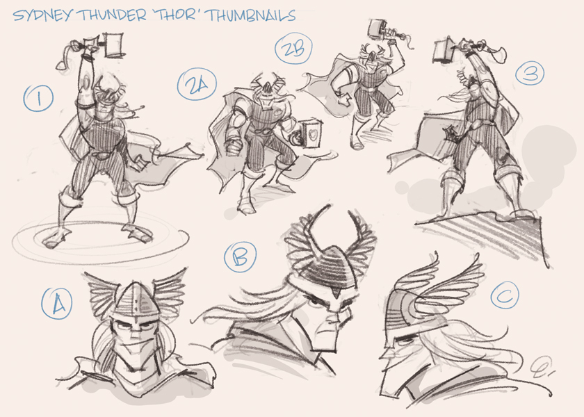 Initial thumbnail concept page