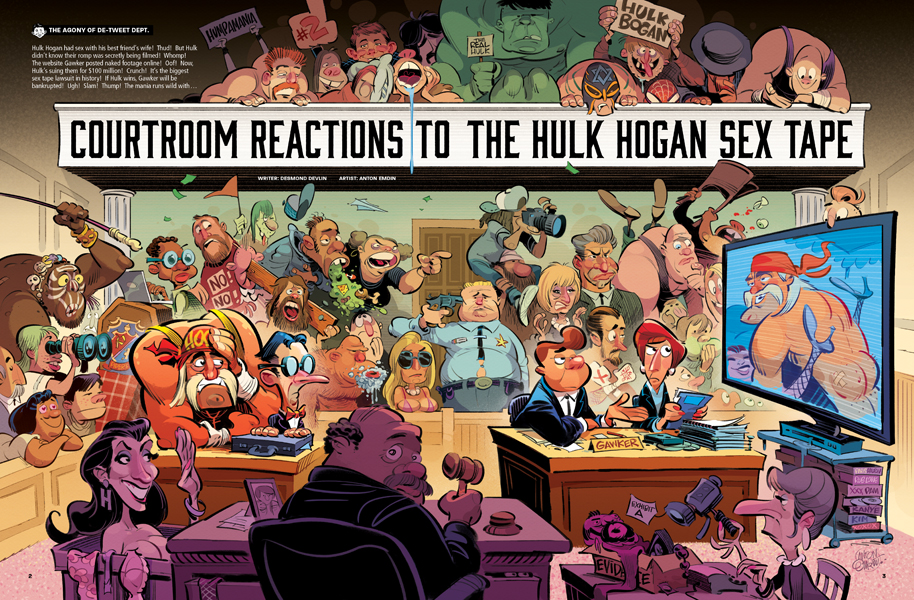 Courtroom Reactions to the Hulk Hogan Sex Tape