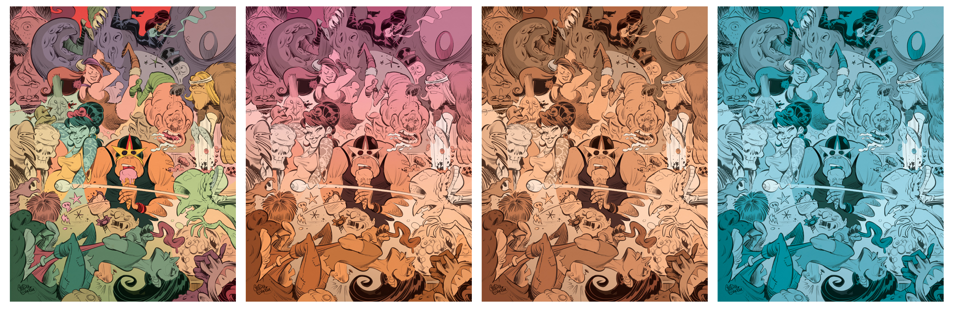 Some process: base colours, and some colour experimentation