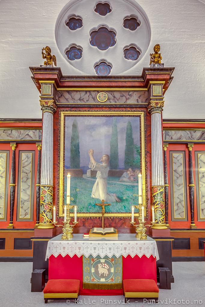 Altertavle fra Narvik Kirke. Maler: Eilif Peterssen.