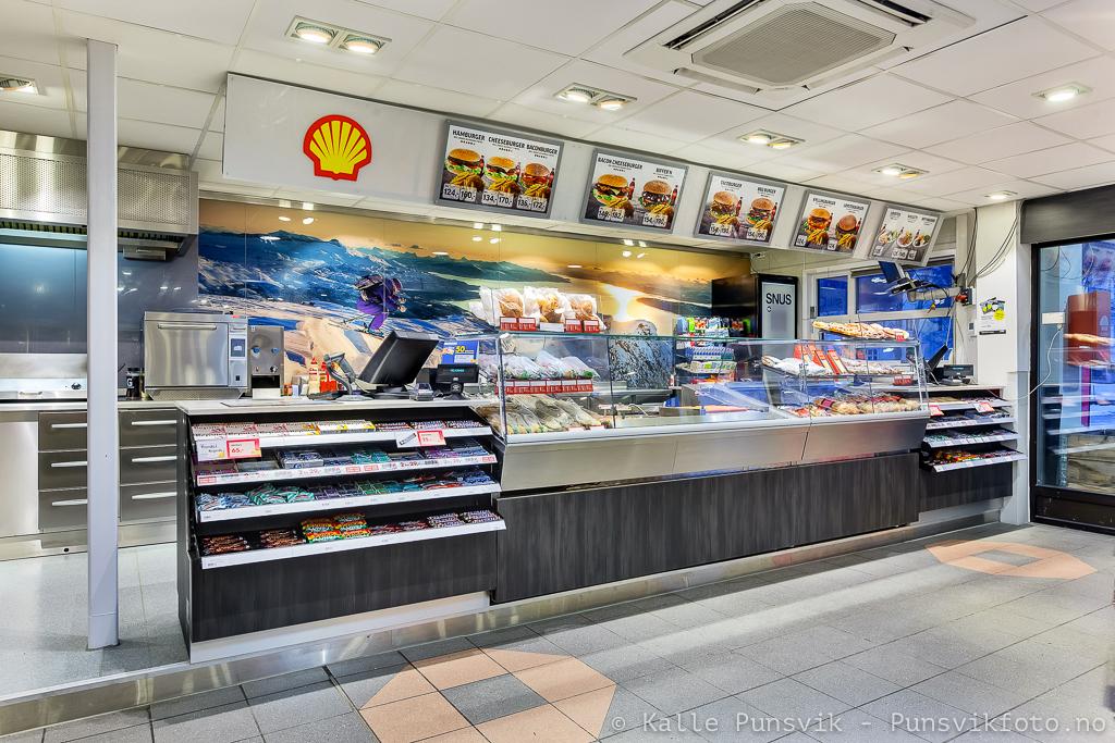 Ny innredning hos Shell Narvik.