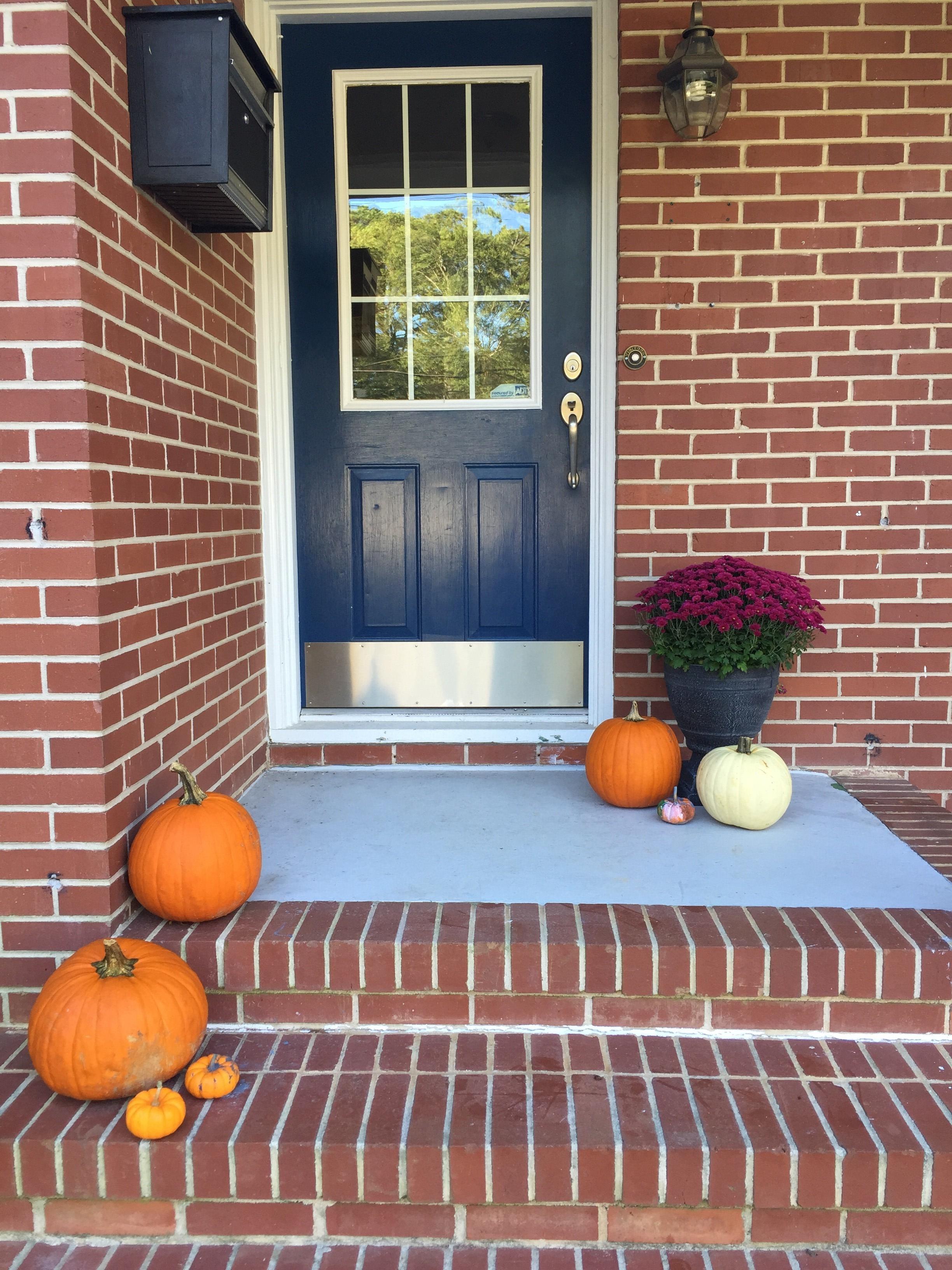 sad little fall porch