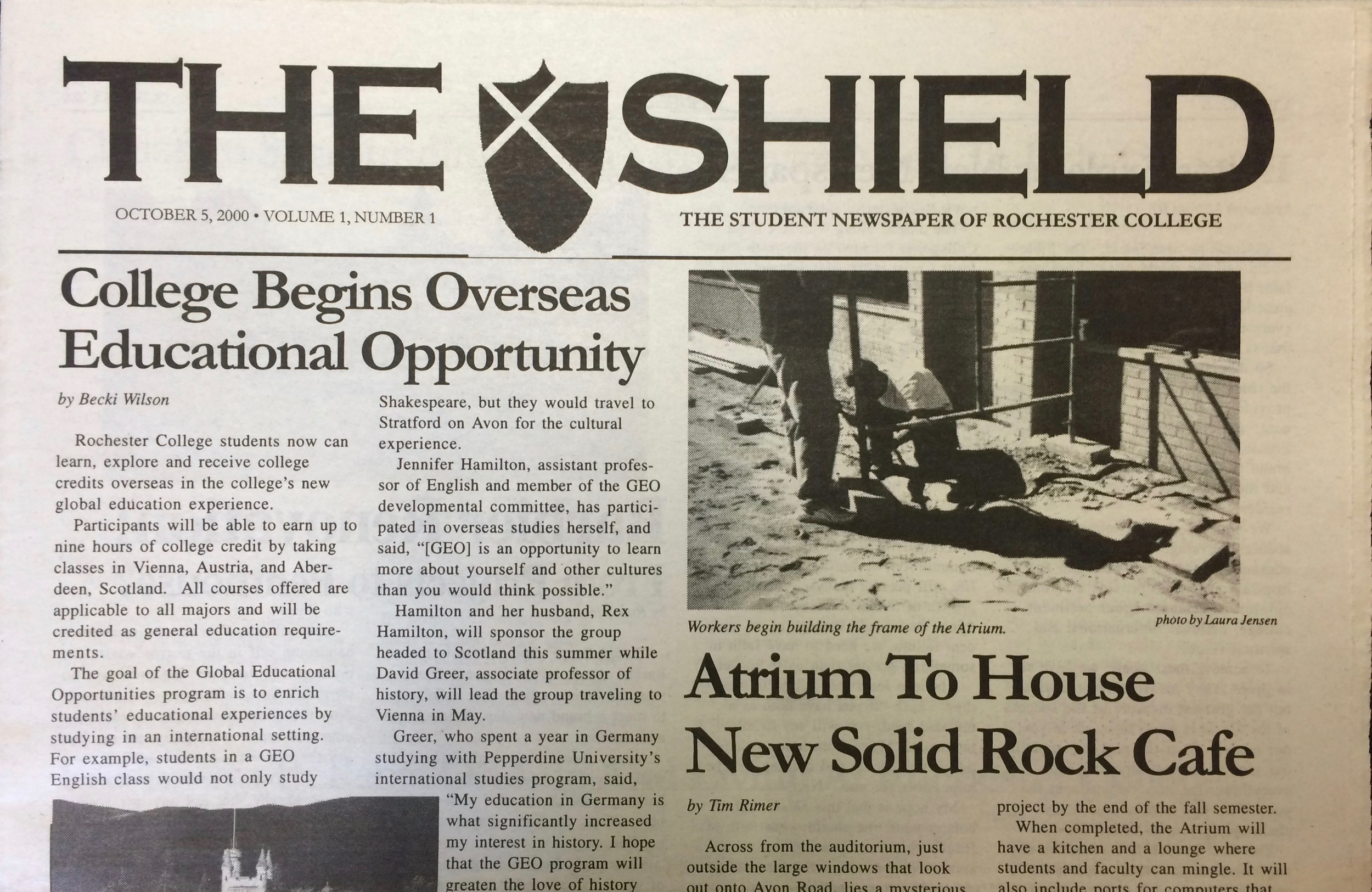 the first issue in 2000