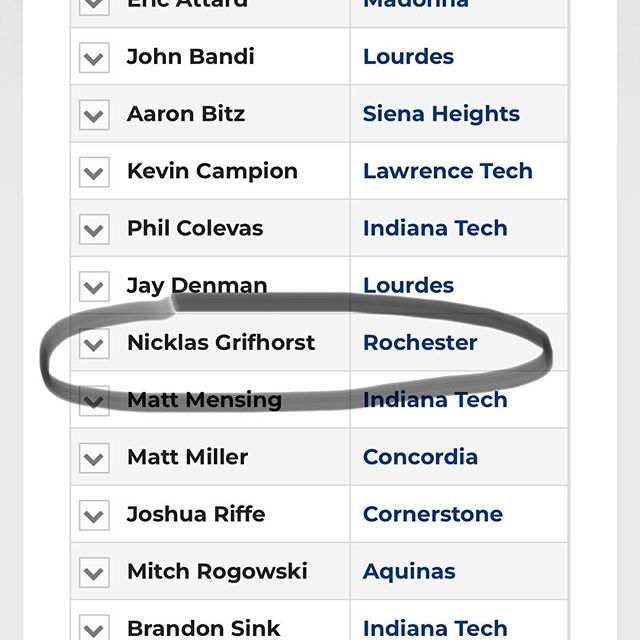 Congrats to Nick Grifhorst, our editor in chief, for being named to the WHAC Men's Golf All Academic Team!