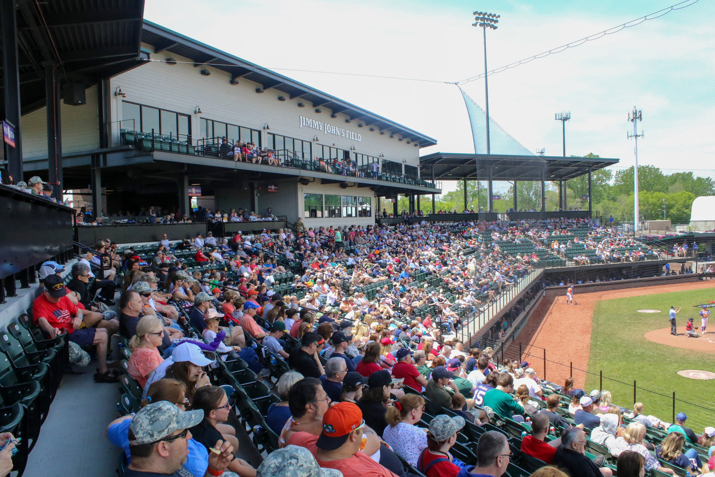 A capacity crowd watched Austin Steinfort pitch on Memorial Day at Jimmy John's Field   Courtesy of USPBL