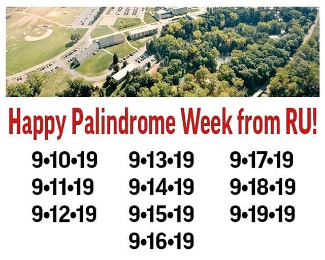 Happy Palindrome Week! Every day this week reads the same backwards as it does forwards. #mindblown💥