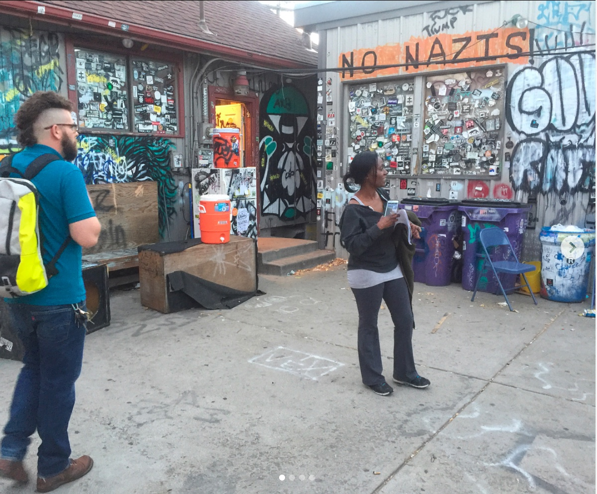 Socially Engaged Art class field trip to 7th Circle Music Collective. Fall 2018.