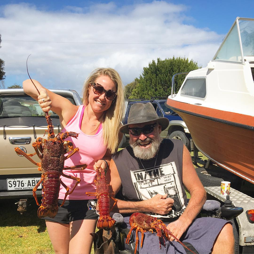 Crays caught in South Australia that made their way to an old digger in Tennant Creek