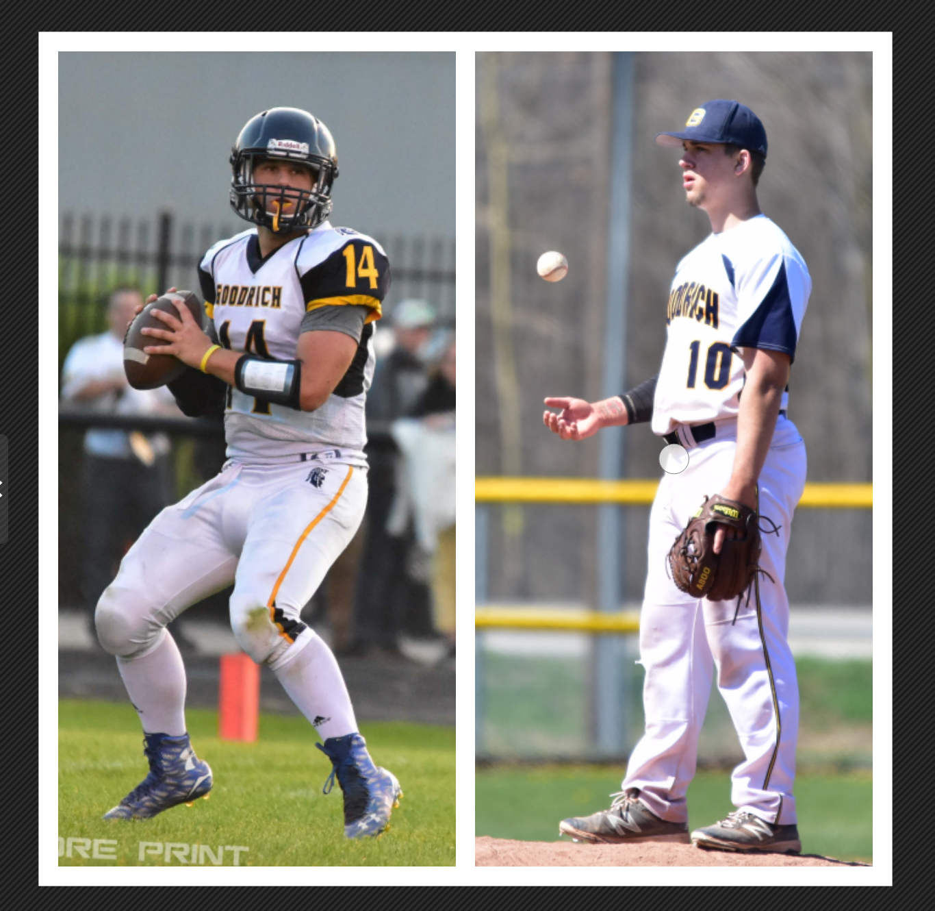 Joe Toporek - Goodrich, MI - Football & Baseball