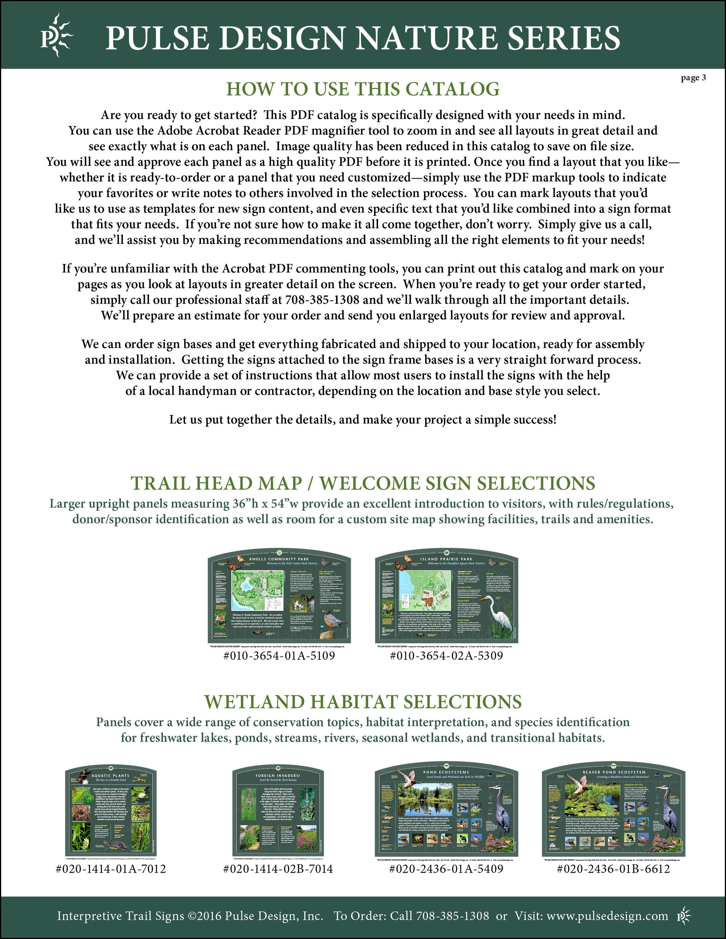 Interpretive Nature Trail Sign Catalog 4