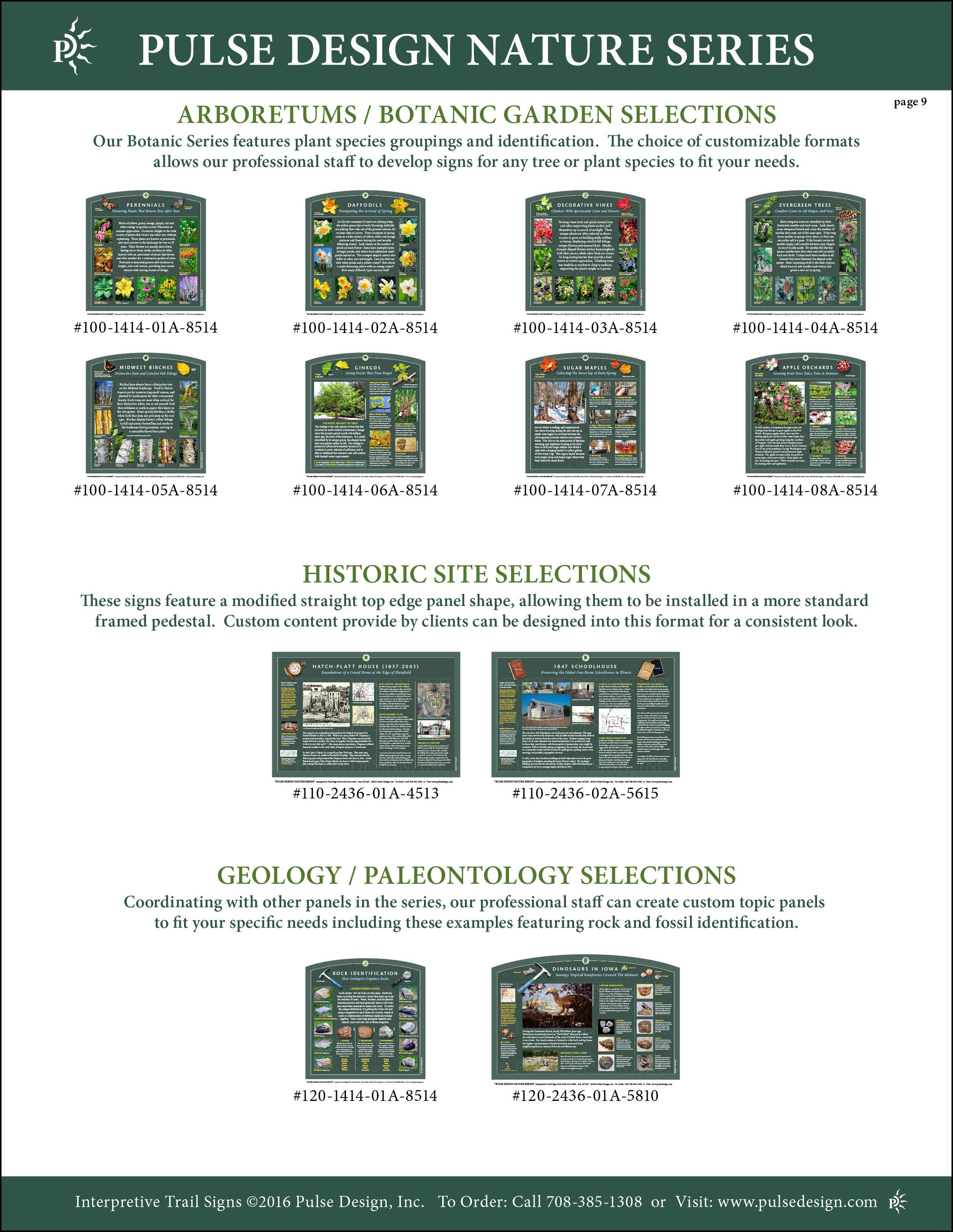 Interpretive Nature Trail Sign Catalog 10