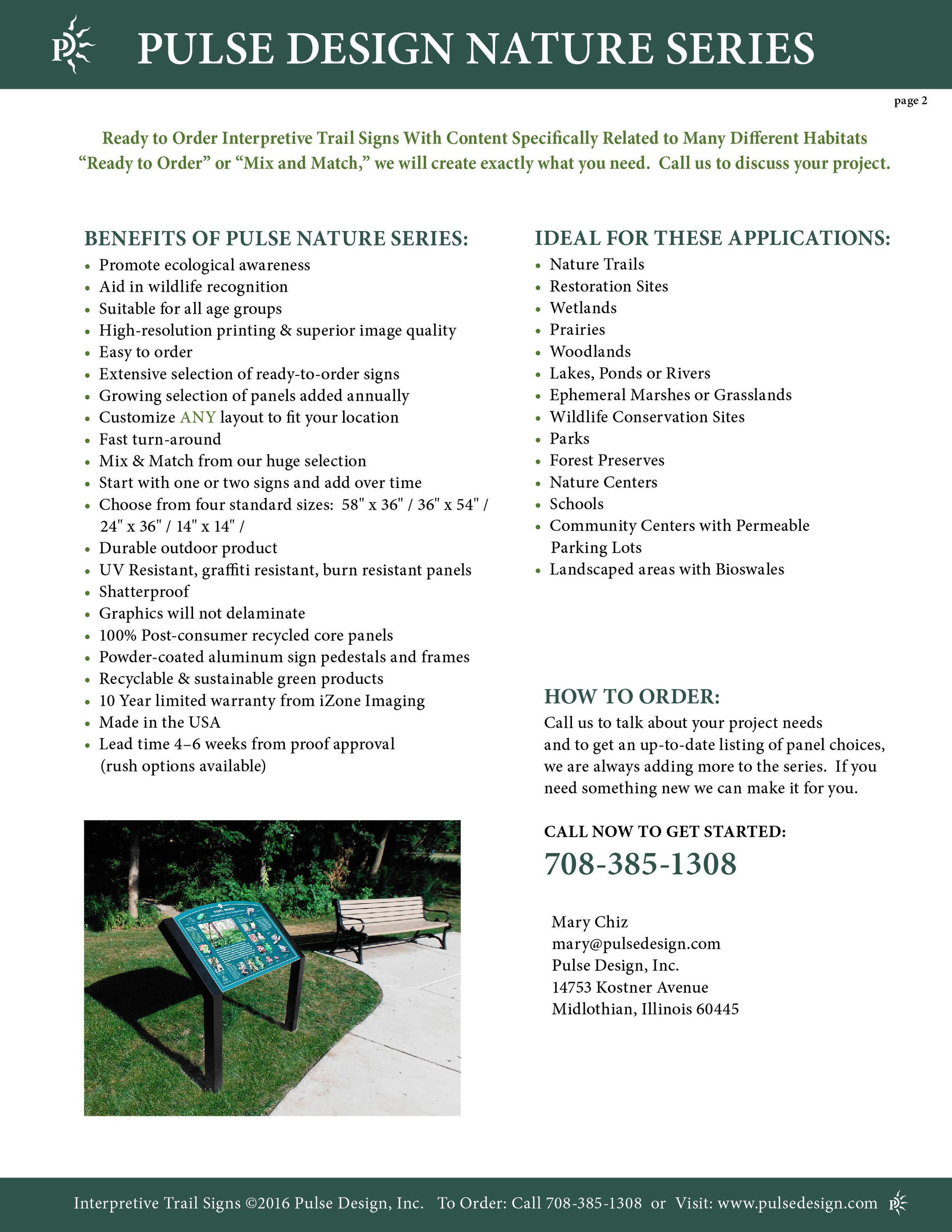 Interpretive Nature Trail Sign Catalog 3