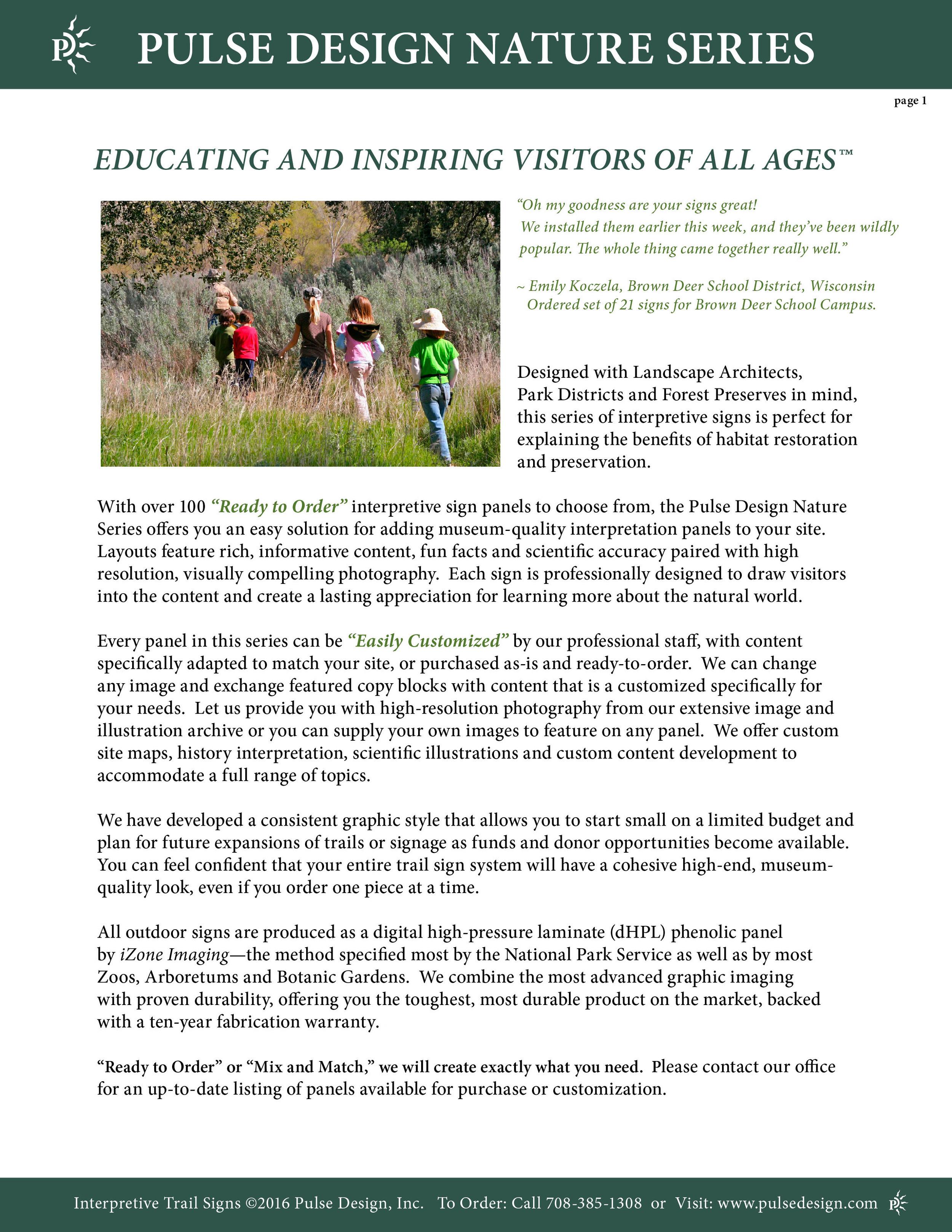 Interpretive Nature Trail Sign Catalog 2