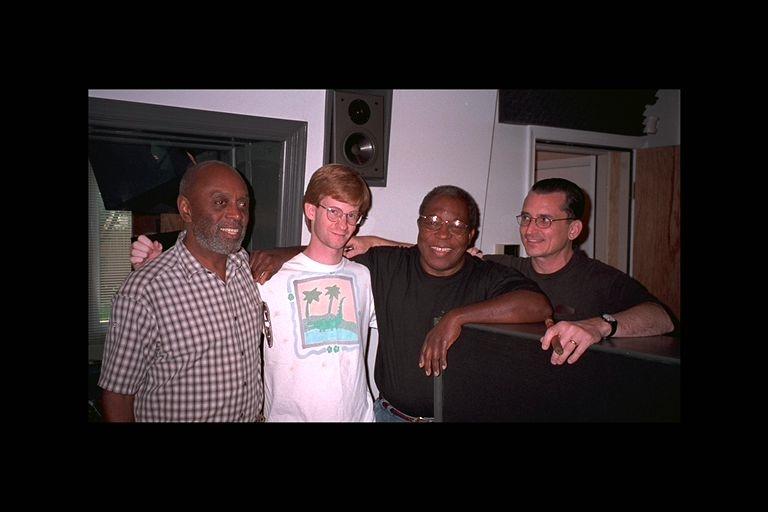 """Recording of """"Encompass Quartet"""" at Louis Scherr's Studio"""