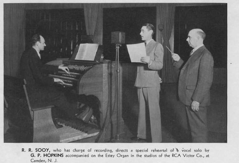 Raymond Sooy recording the famous Estey Organ