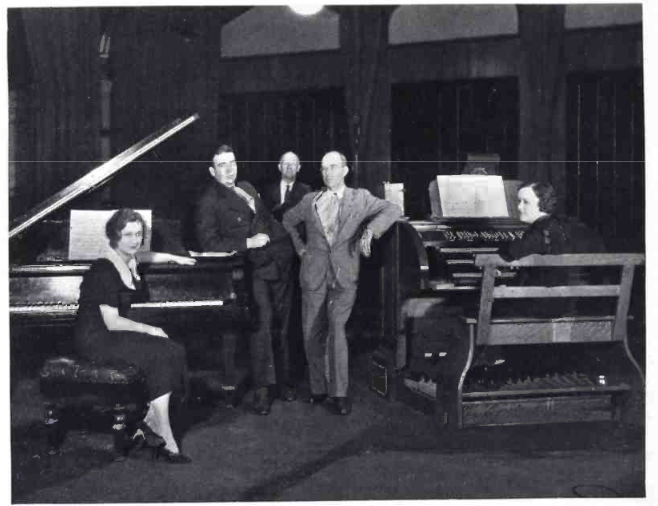 The Harding Sisters recording at the famous Estey Organ