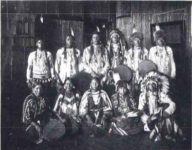 Native Americans recording in Studio 'A'