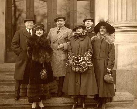 Guiseppe De Luca, Amelia Galli-Curci, Enrico Caruso, Flora Perini, Angelo Bada and Minnie Egner