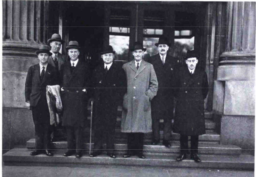 BBC Executives outside Building 2