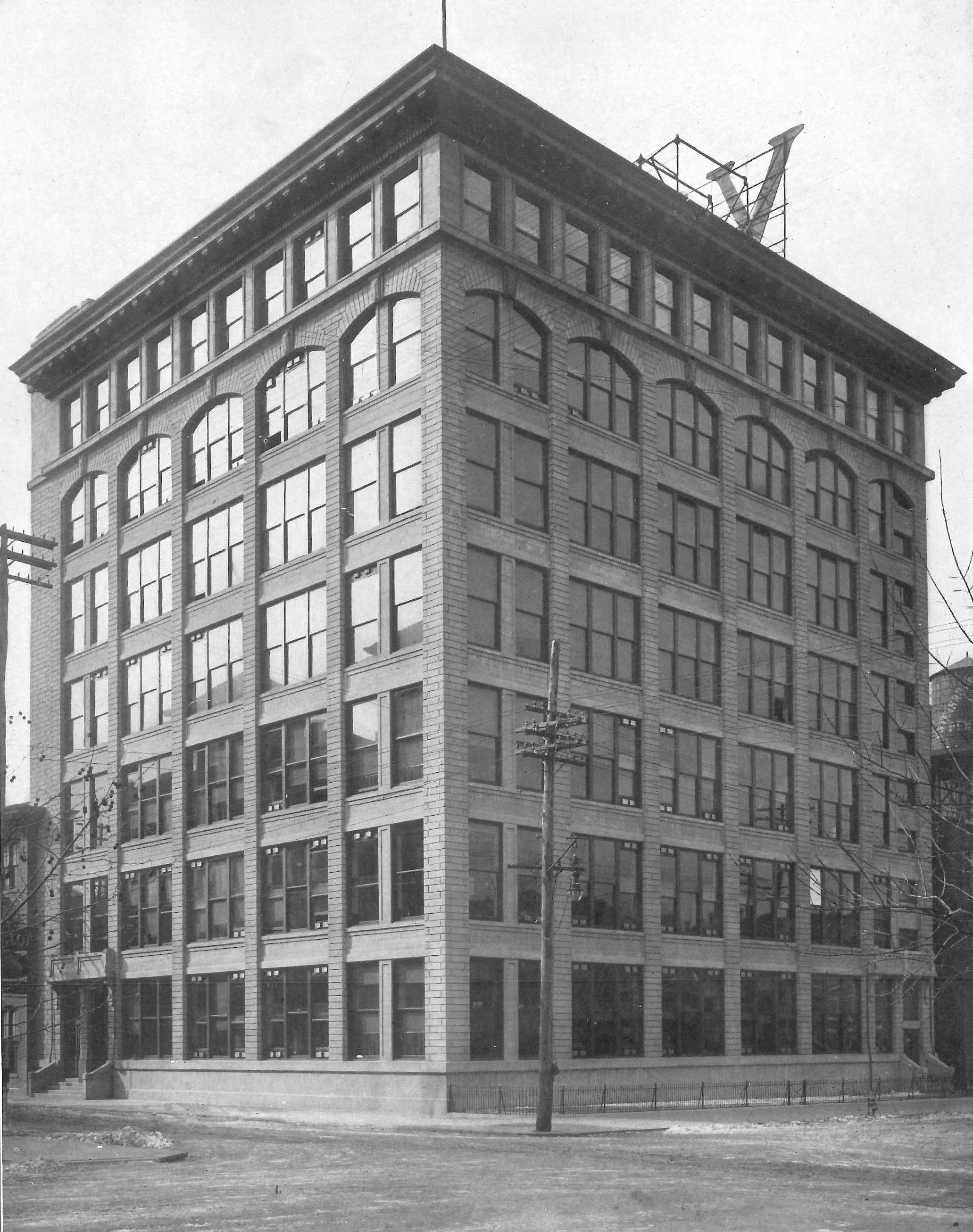 Building 15, with 3 floors added on