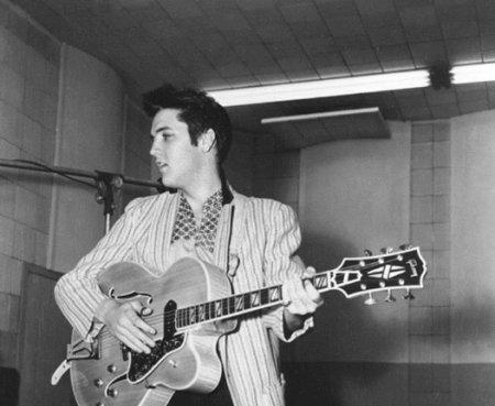 Elvis Presley in the Annex Studio