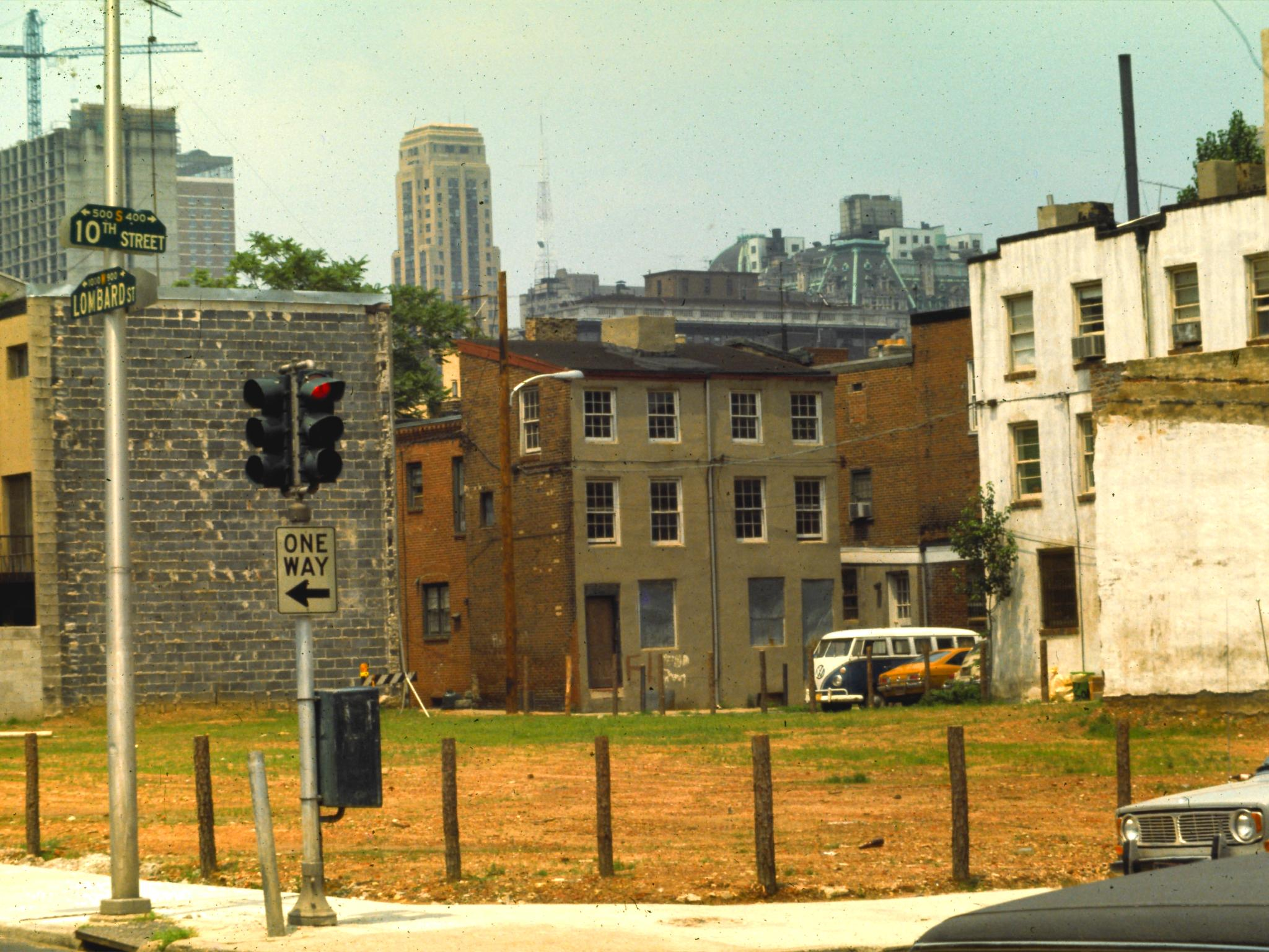 10th and Lombard, after demolition