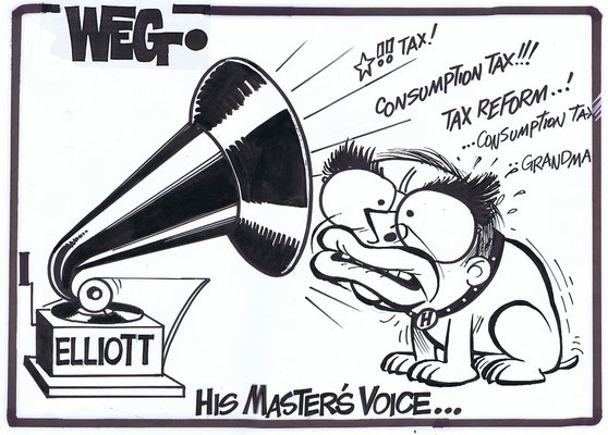John Elliot Political Cartoon