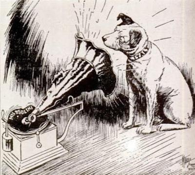 1940s Italian Political Cartoon