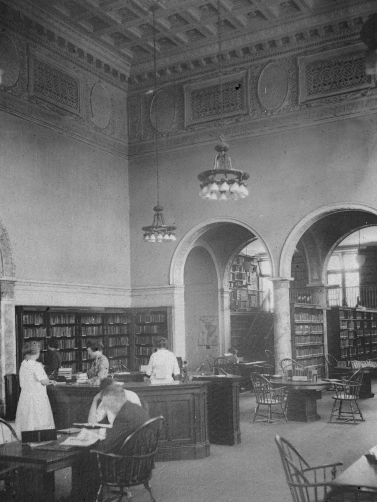 Interior of Cooper Library