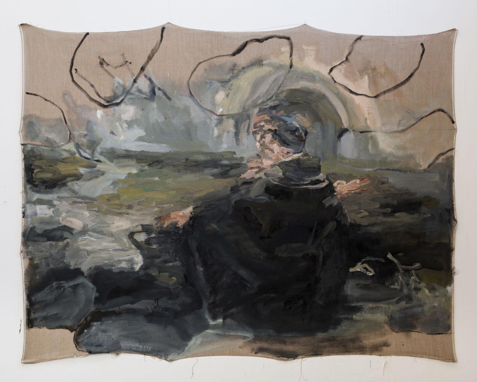 "Campfire I,  Oil on Linen, 60x 72"", 2016"