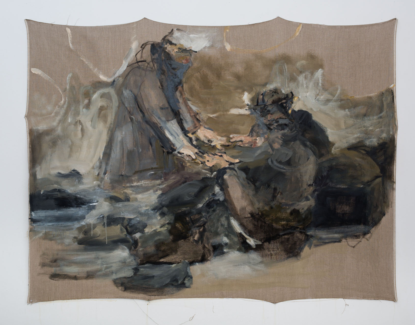 "Campfire III,  Oil on Linen, 60x 72"", 2016"