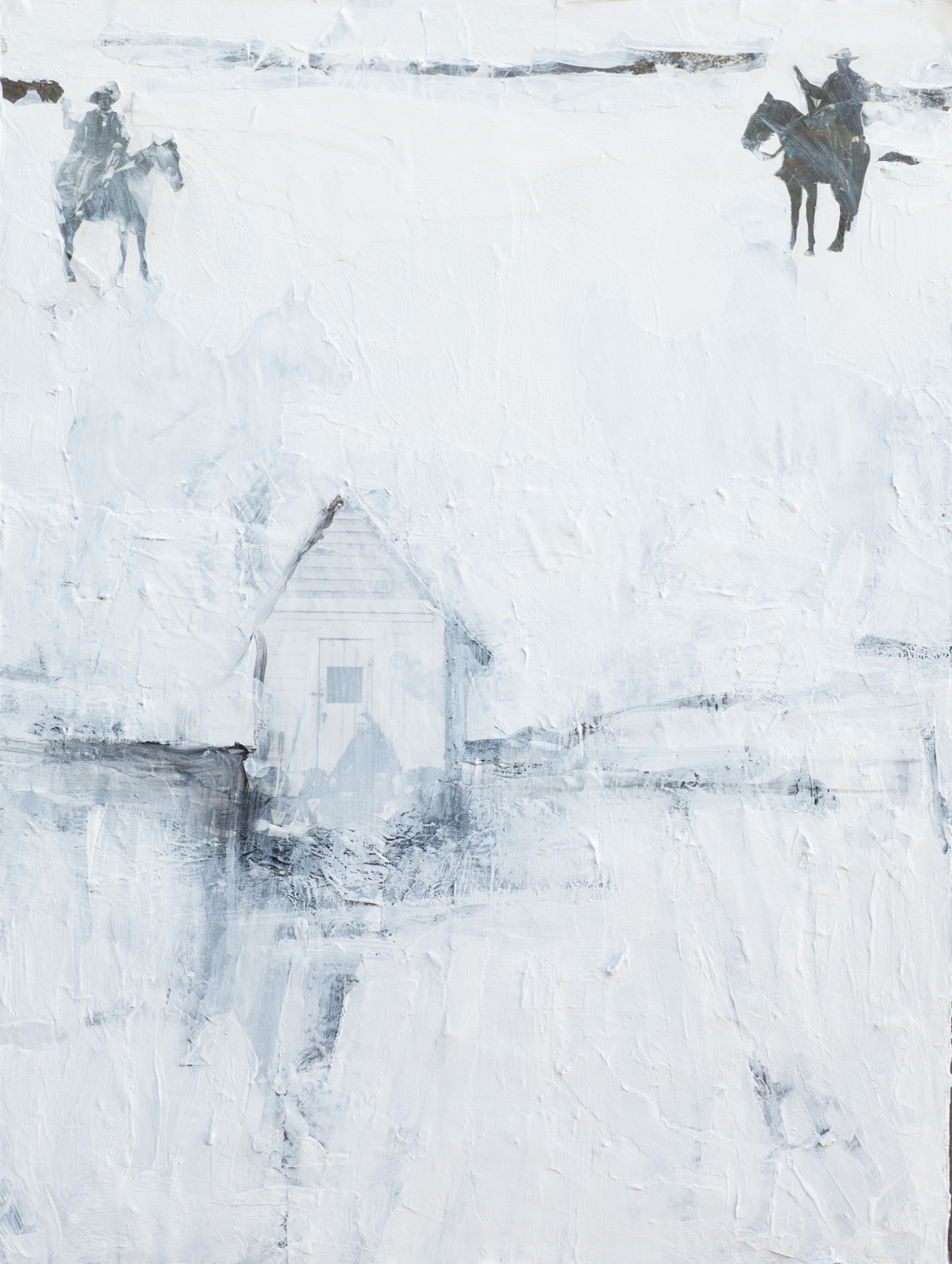 "Homestead, mixed media on panel, 24x18"", 2012"